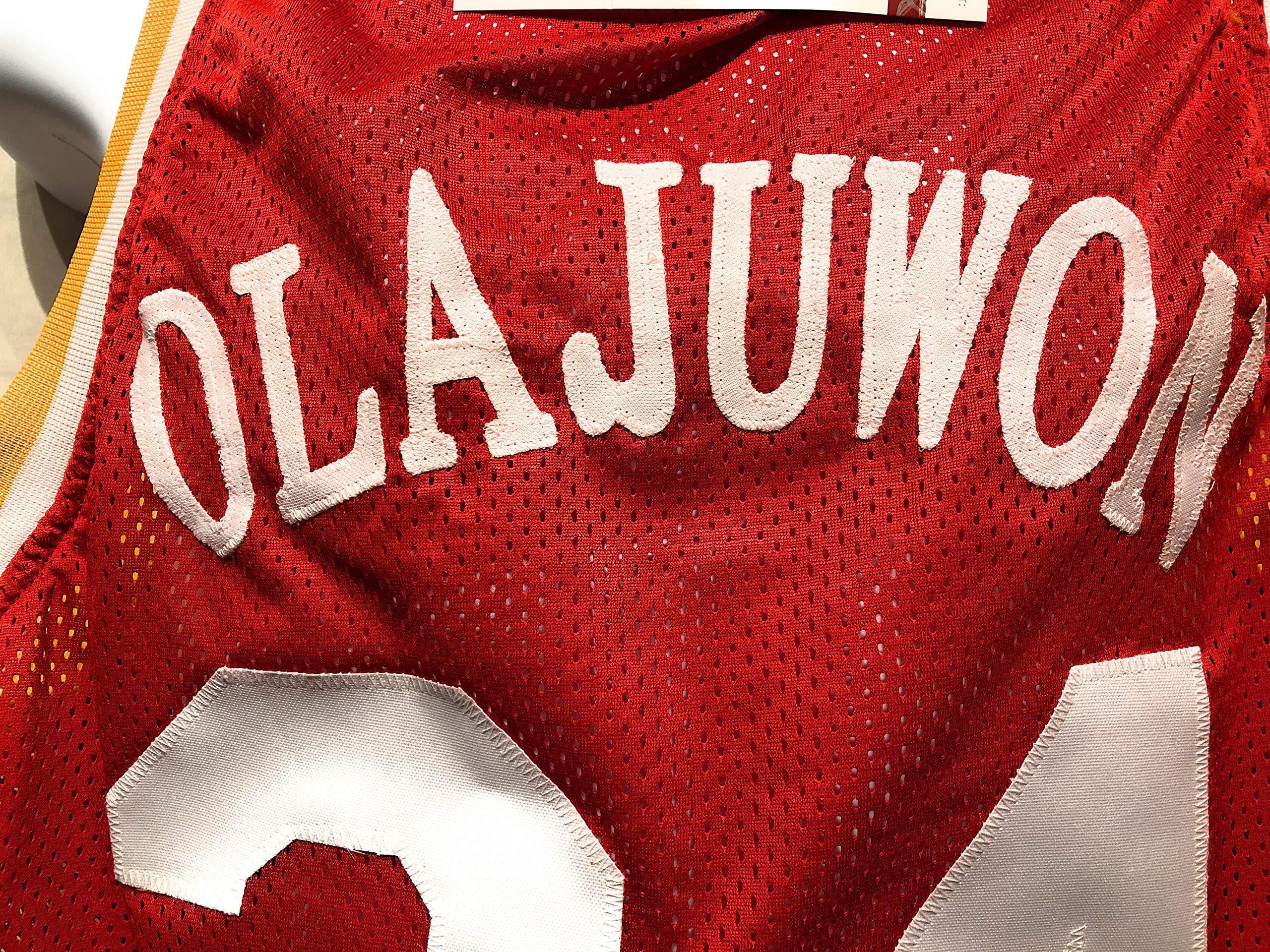c04039bef Hakeem Olajuwon Houston Rockets Signed Autograph Custom Jersey JSA Witnessed  Certified