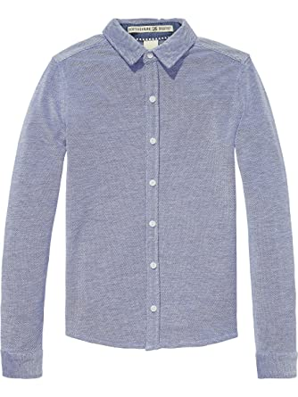 Scotch&Soda Shrunk Jersey Pique Shirt, Chemise Gar?on, (Combo A 217), 164 (Taille Fabricant: 14)