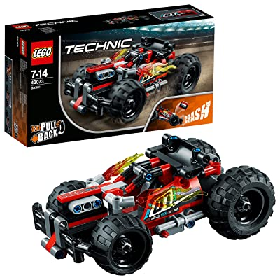 LEGO 42073 Technic BASH Racing Car Toy with Powerful Pull-Back Motor, High-Speed Action Vehicles Building Set,: Toys & Games