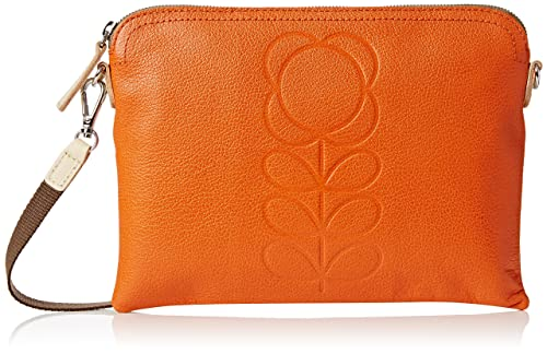 Orla Kiely Embossed Flower Leather Travel Bag