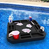 Polar Whale Floating Game or Card Table Tray for Pool or Beach Party Float Lounge Durable Foam Drink Holders with Waterproof