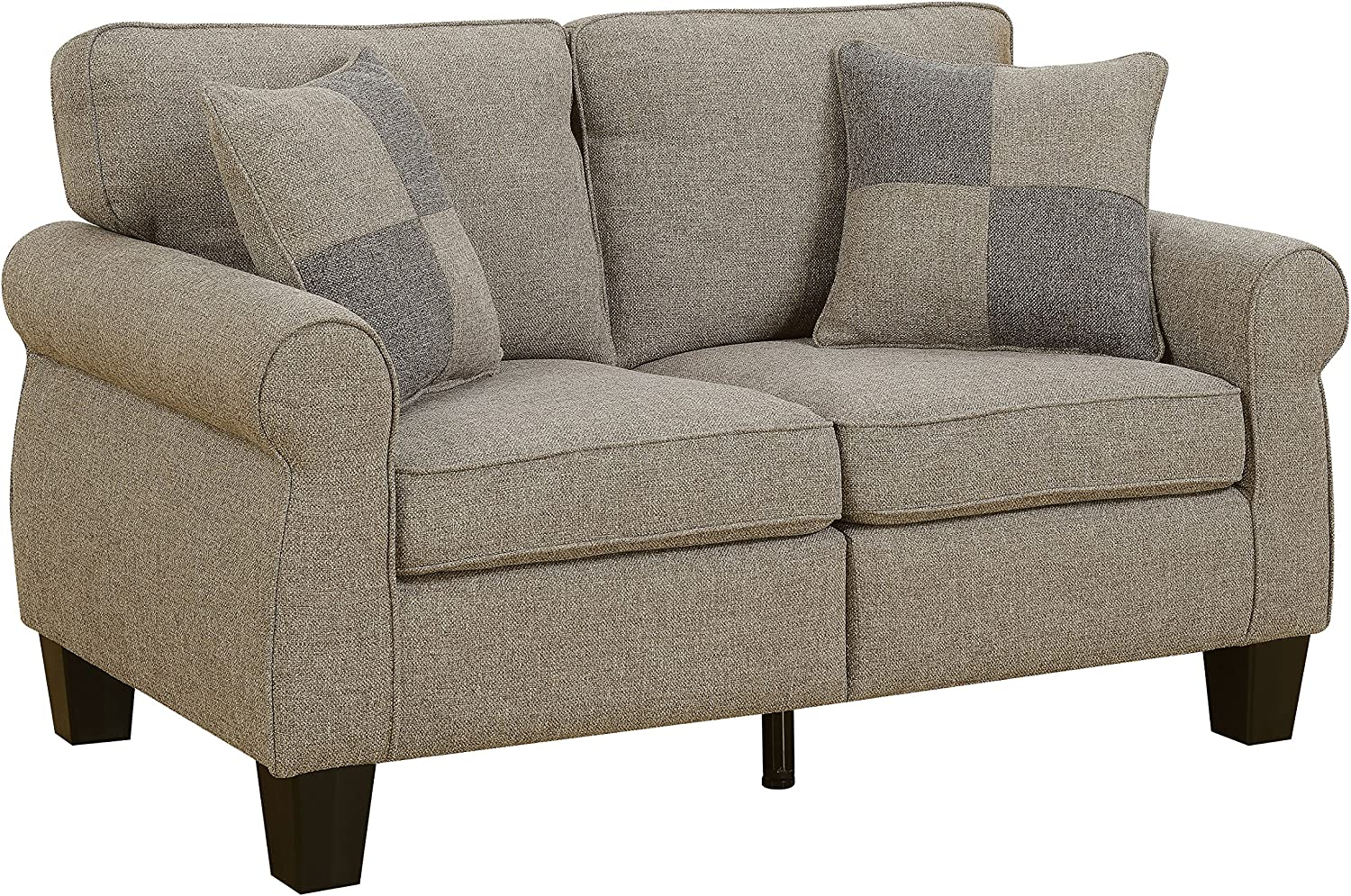 HOMES Inside Out Loveseat, Light Gray