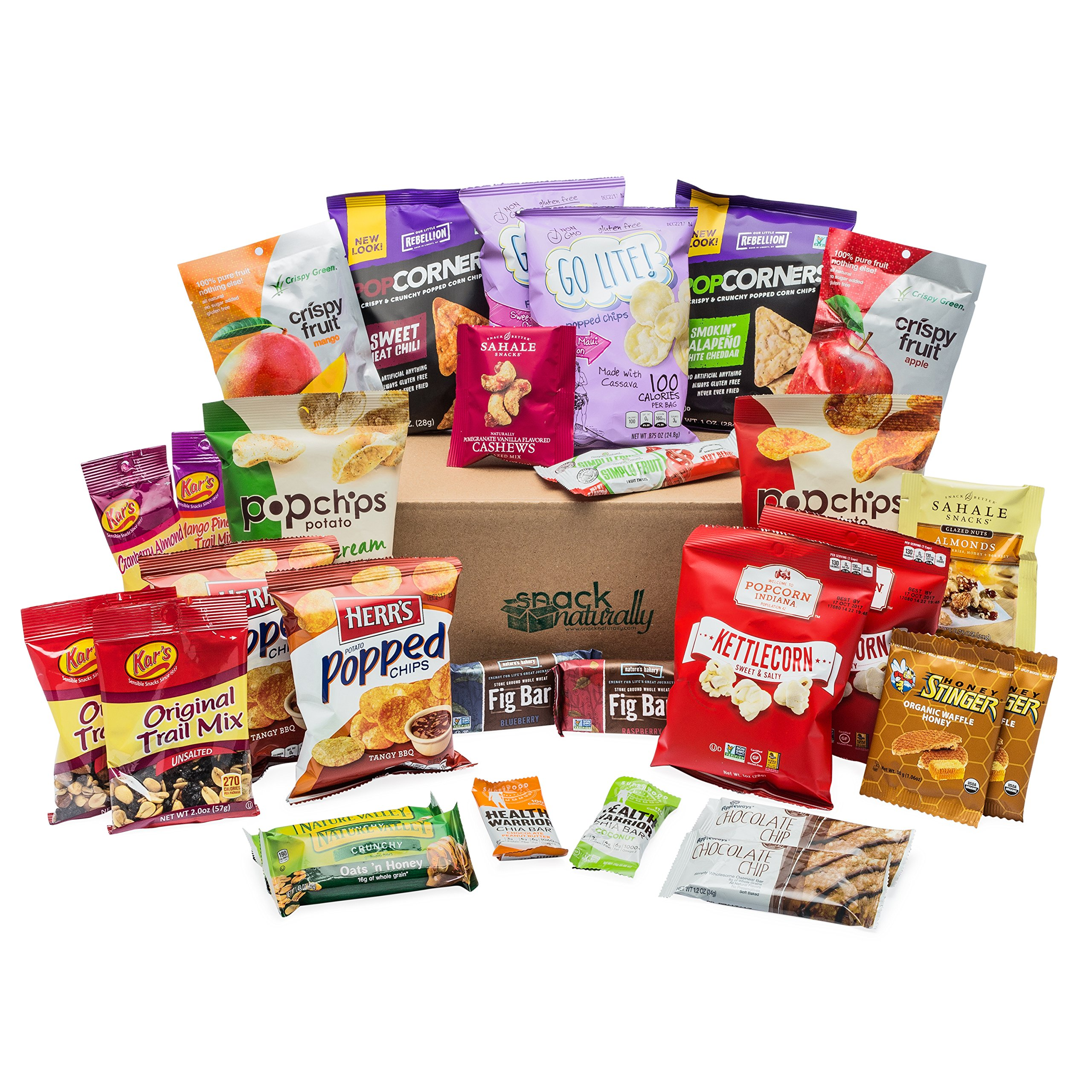 Healthy Variety Snack Care Package (30 Count) by Snack Naturally