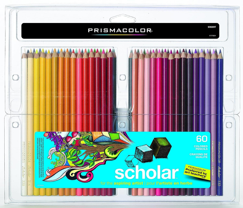 Prismacolor 92808HTScholar Colored Pencils, 60-Count