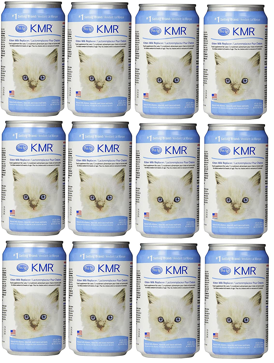 (12 Pack) KMR Milk Replacer Liquid for Kittens Size 8 Ounce Worldwide Sourcing