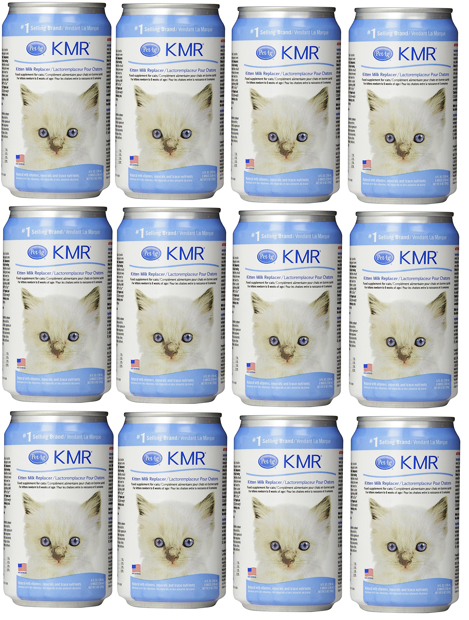 (12 Pack) KMR Milk Replacer Liquid for Kittens Size 8 Ounce by KMR