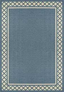 product image for Maples Rugs Bella Area Rugs for Living Room & Bedroom [Made in USA], 7 x 10, Blue