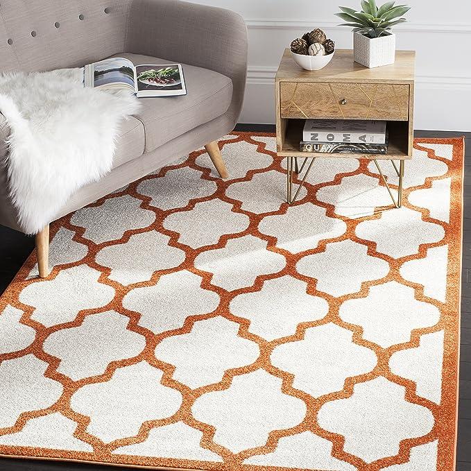 Safavieh Derby Indoor Outdoor Rug Woven Polypropylene Carpet In Beige Orange 200 X 300 Cm Amazon Co Uk Kitchen Home