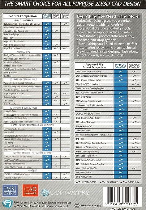Avanquest TurboCAD Deluxe 17 - Software de diseño automatizado ...