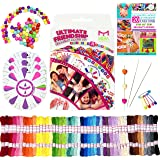 Premium Friendship Bracelets Maker - Large 161 Piece Bracelet/Jewelry Making Kit - Best Birthday/Christmas Gifts - FREE 20 Bracelets Patterns E-Book DIY for Kids