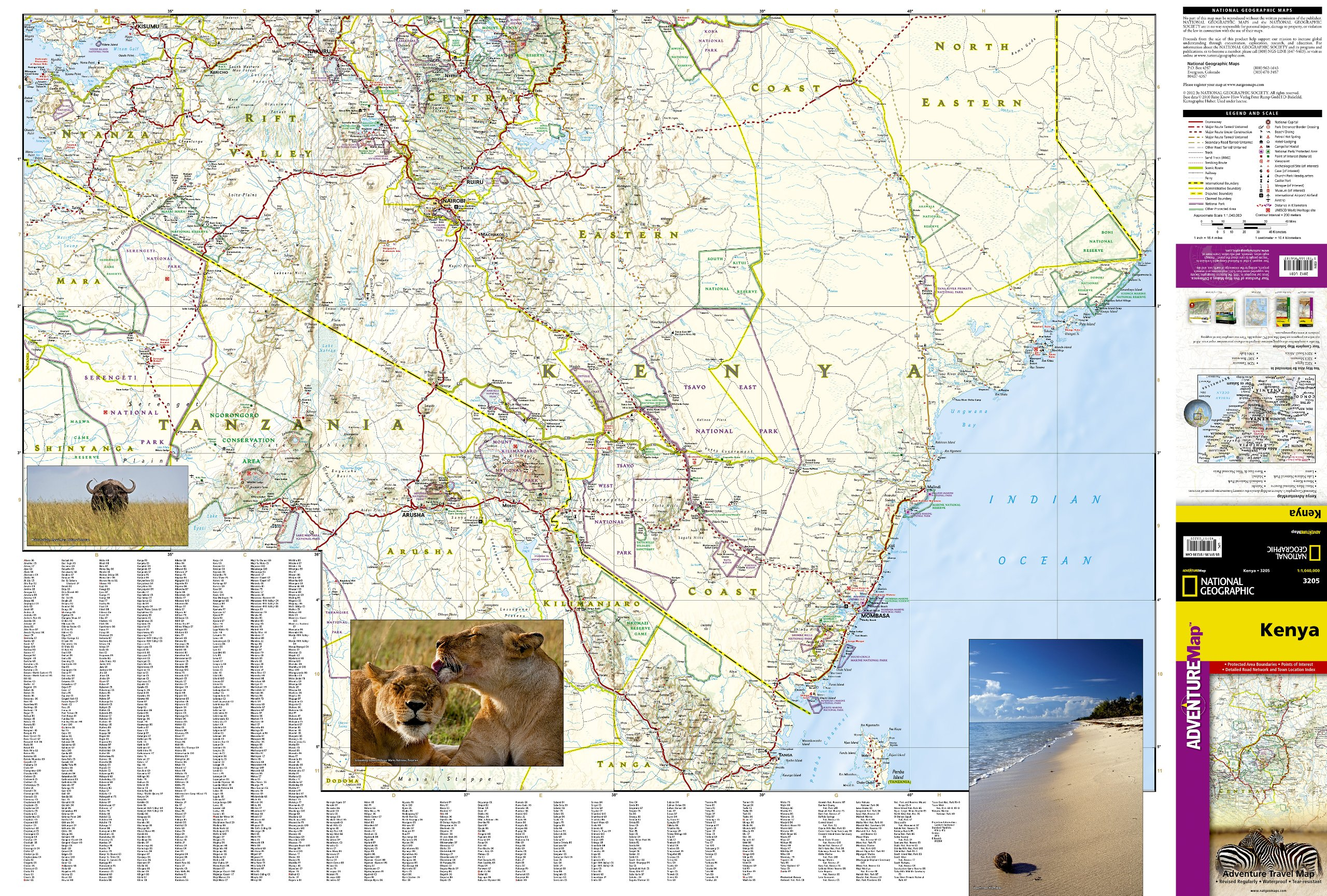 Kenya national geographic adventure map national geographic maps kenya national geographic adventure map national geographic maps adventure 0749717032057 amazon books gumiabroncs Choice Image
