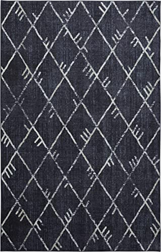 Mohawk Home Highland Precision Printed Prismatic Area Rug, 8 x10 , Navy