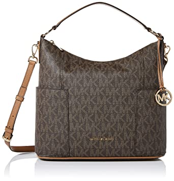 265cebd8ce88 Amazon.com  Michael Kors Anita Signature Large Convertible Women s Handbag  in Brown Acorn  Shoes
