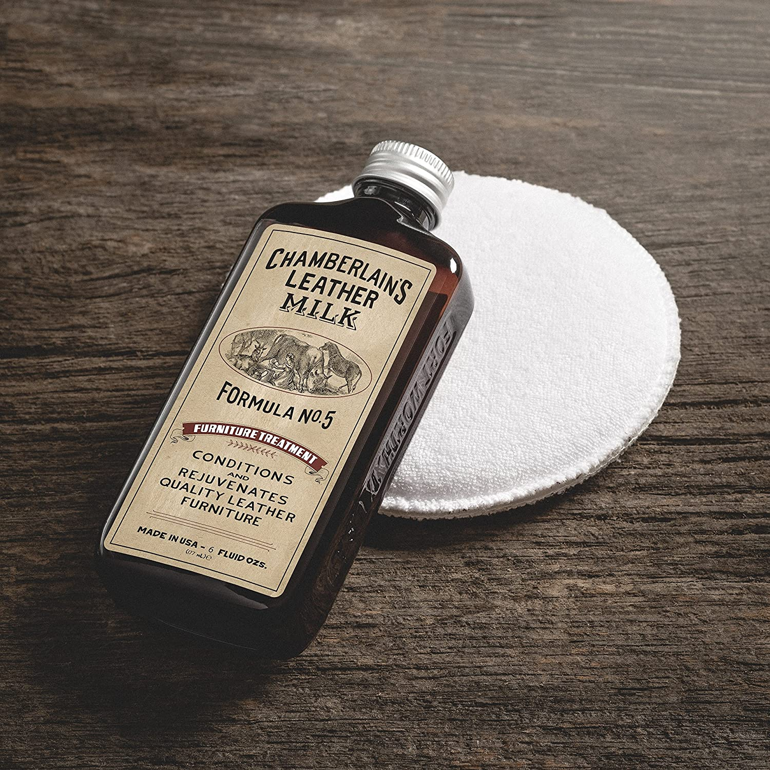 Amazon.com: Leather Milk Leather Furniture Conditioner and Cleaner - Furniture  Treatment No. 5 - For All Natural, Non-Toxic Leather Care. Made in the USA.