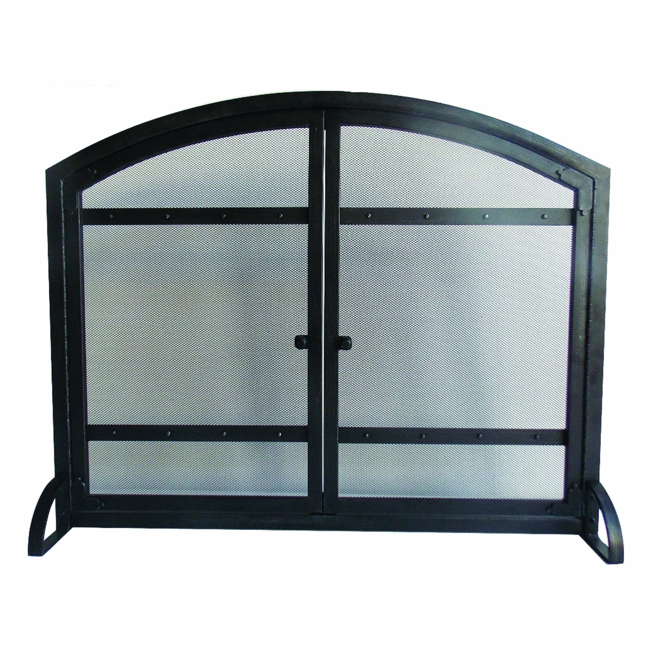 Pleasant Hearth Harper Arched Fireplace Screen with Doors by Pleasant Hearth