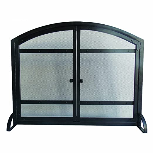Amazon Pleasant Hearth Harper Arched Fireplace Screen With