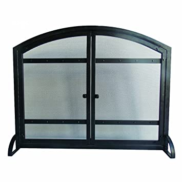 Amazon.com: Pleasant Hearth Harper Arched Fireplace Screen with ...