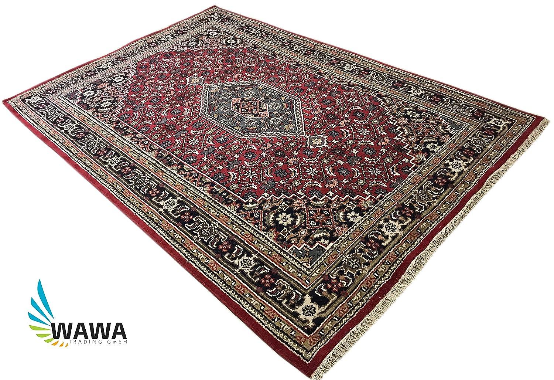 WAWA TEPPICHE Orientteppich Bidjar 200X300 cm Handgeknüpft ROT Cream Teppich 100% Wolle