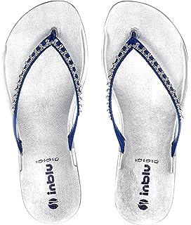 INBLU Damen Stile Zehentrenner, Trkis (Azzurro 008), 39 EU