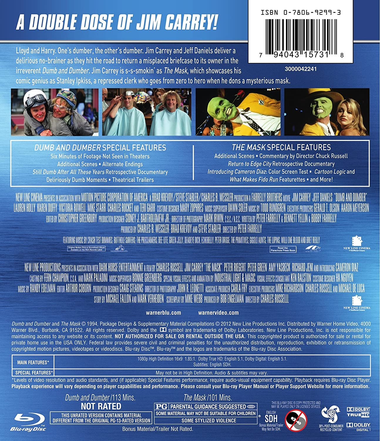 Amazon com: Dumb & Dumber: Unrated / The Mask (Double