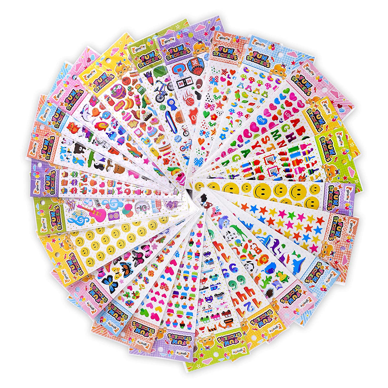 Giraffe - Kids Play Stickers, 3D Puffy (1650+ Stickers)