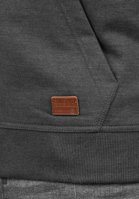 Blend Speedy Mens High-Quality Cotton Blend Zip Hoodie