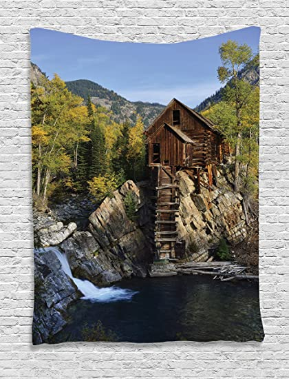 Amazon.com: Ambesonne Lake House Decor Collection, Secluded ... on