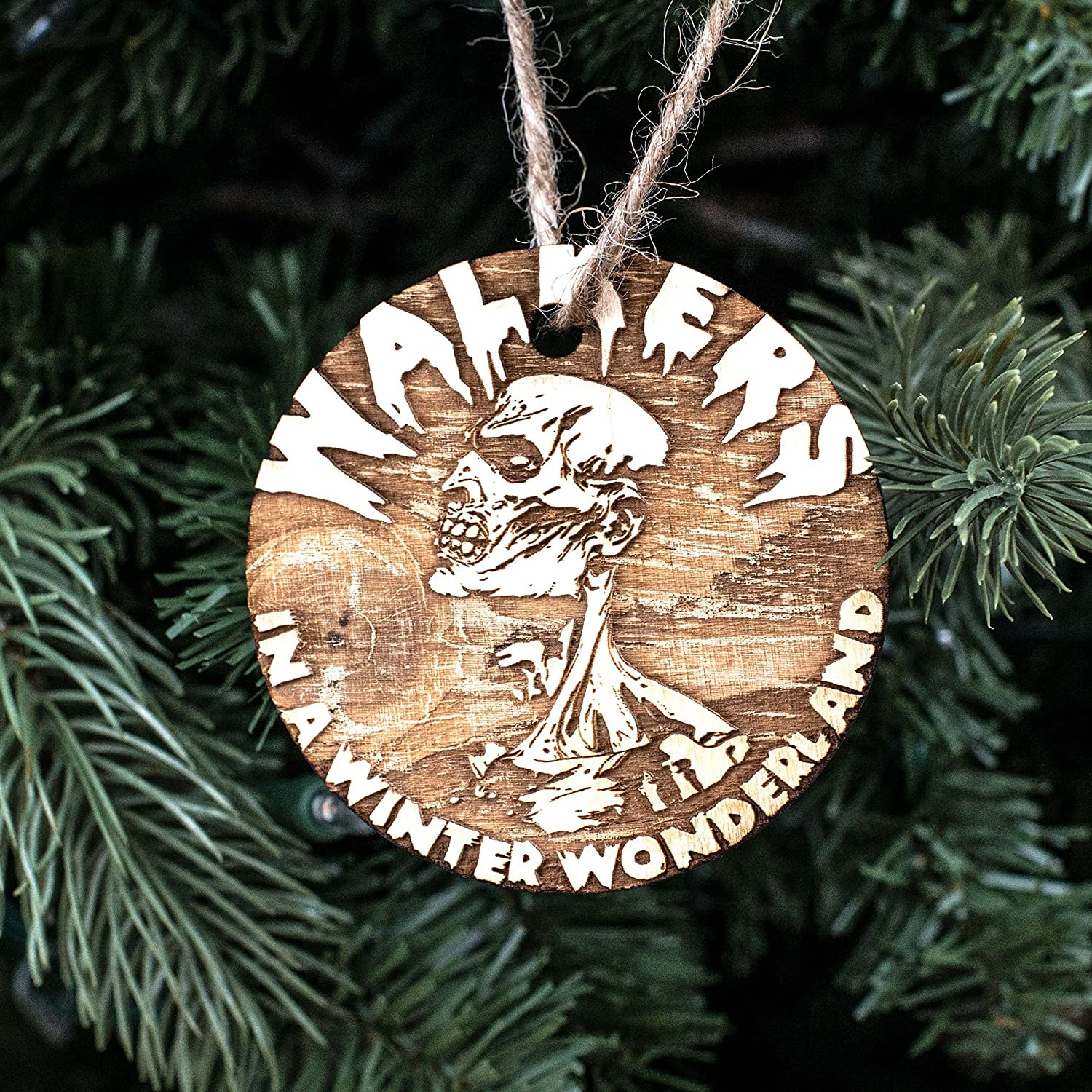 Ornament - Walkers in a Winter Wonderland - Raw Wood 3x3in