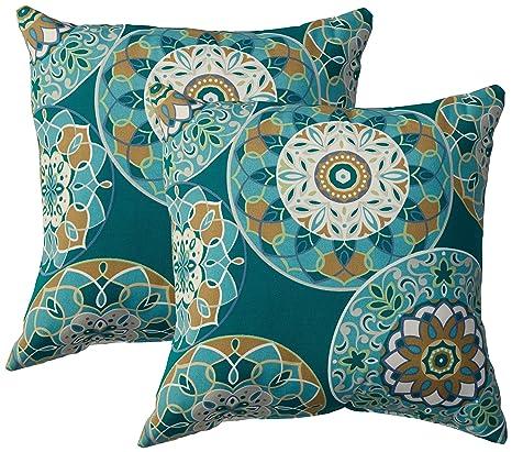 Amazon Com Tkc Pillow Tealsund 18x18 2x Outdoor Throw Pillows