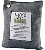 Moso Natural Air Purifying Bag 600g. Bamboo Charcoal Air Freshener, Deodorizer, Odor Eliminator, Odor Absorber For Home and Basement. Charcoal Color