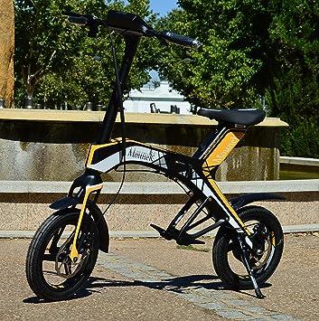 """Bicicleta scooter eléctrica 300W 14"""" plegable MouneK M-01 batería Litio 48V 4,"""
