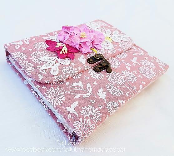 Handmade Book Album Scrapbook Gift For Happy Birthday Style Shabby Chic Flowers Romantic Love Valentine