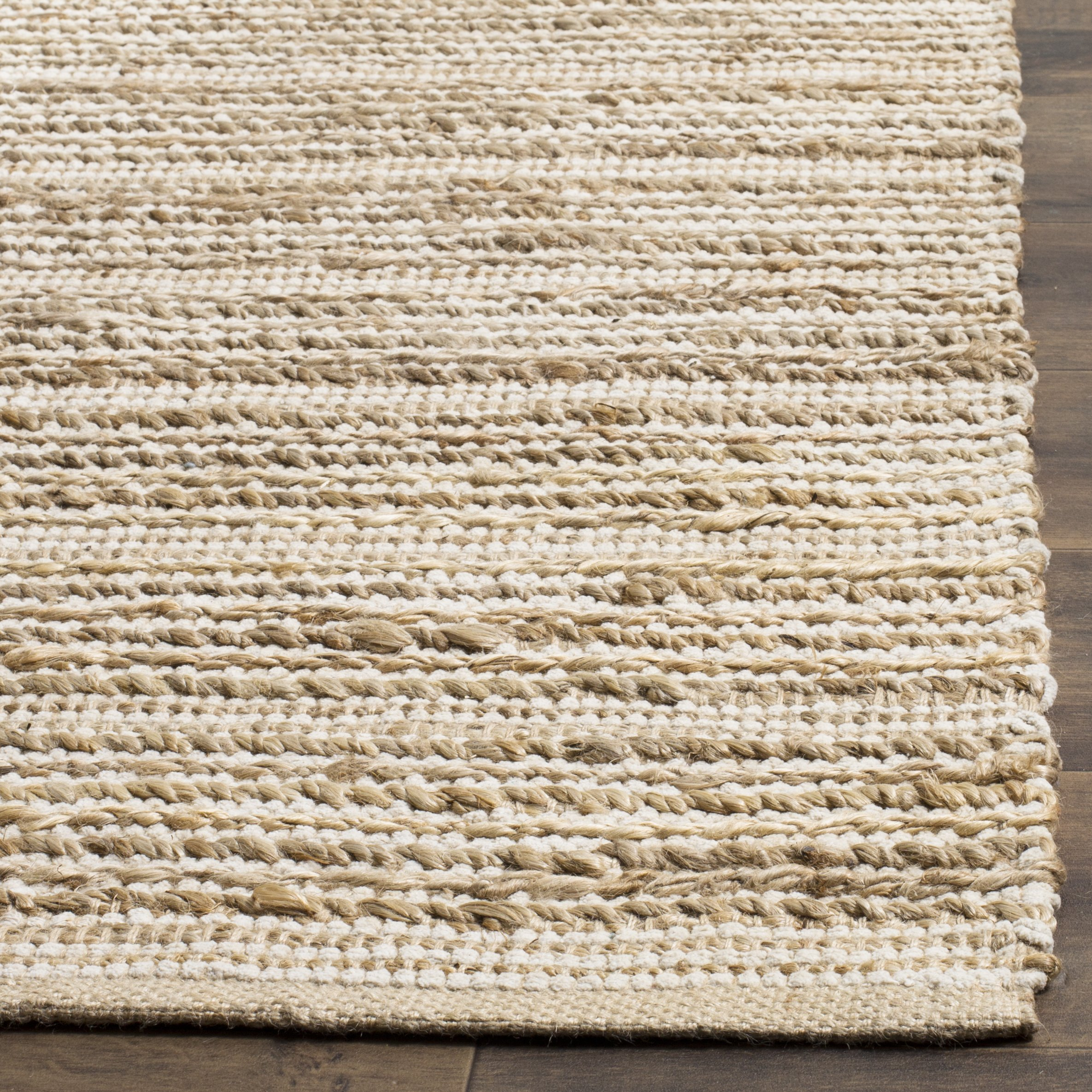 Safavieh Cape Cod Collection CAP851G Hand Woven Natural Ivory Jute Cotton Runner (2'3'' x 8') by Safavieh
