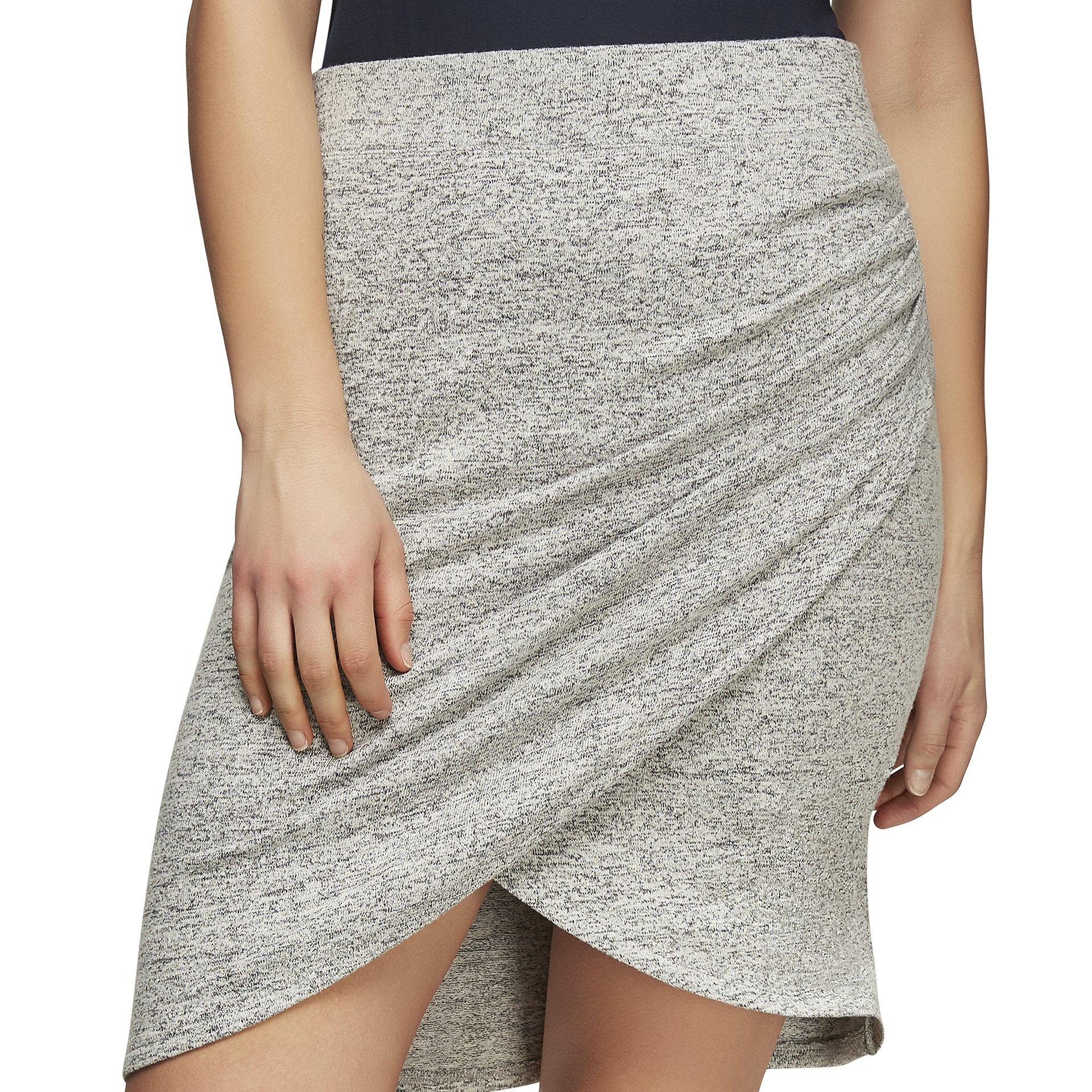 Joe Fresh Women's Active Wrap Skirt, L, Grey Melange