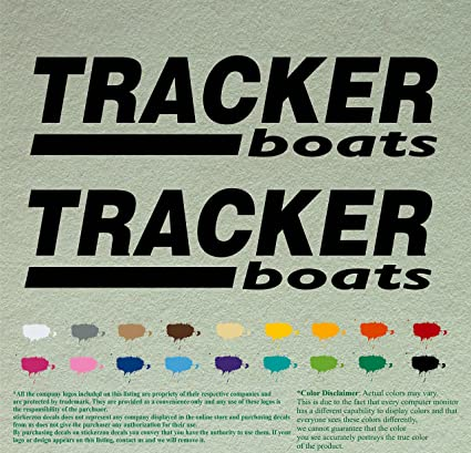 Pair of Tracker Boats Decals Vinyl Stickers Boat Outboard Motor Lot of 2  (36