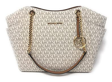 f56f02d4a4ce Michael Kors Jet Set Travel 2018 Large Chain Shoulder Tote Bag 35F8GTVE7B  (Vanilla PVC)