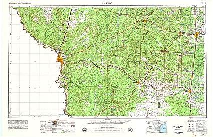 Map Of Texas Laredo.Amazon Com Yellowmaps Laredo Tx Topo Map 1 250000 Scale 1 X 2