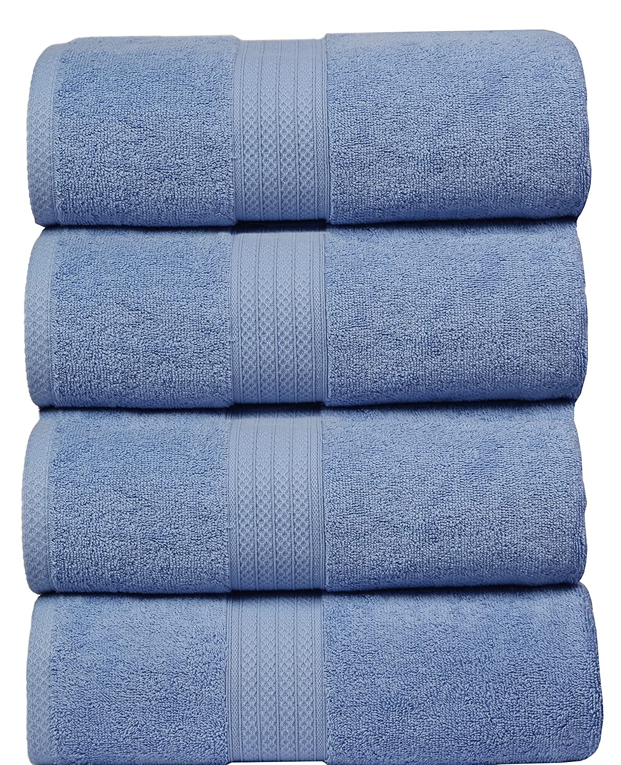 MAHI HOME Luxurious & Ultra Soft 4 Pack Bath Towel Set, 100% Ring Spun Combed Cotton, Highly Absorbent, Ideal for everyday use, 27x54 – White 27x54 – White MahiritzHomeFashion