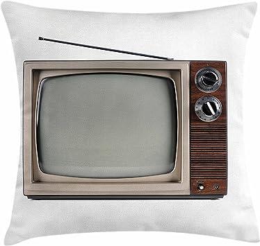 Lunarable 1950s Funda de cojín con Antena de televisión Antigua ...