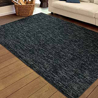 product image for Orian Rugs Super Shag Collection 392326 Solid Area Rug, 9' x 13', Dark Indigo