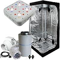 Cultivalley Growbox Komplett-Sets 80x80x180cm, 250W NDL MH Wuchs & HPS Blüte Bausatz, Klimaset mit AKF Abluft