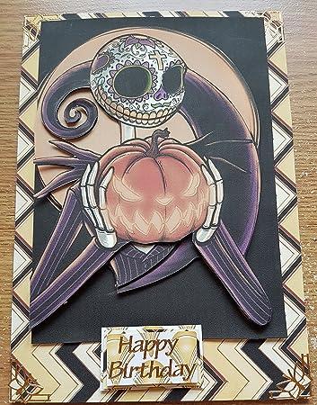 Handmade Nightmare Before Christmas Inspired Birthday Card Pumpkin