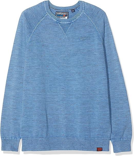 Maglione da Uomo Super dry uomo Garment Dye Crew maglione a girocollo Felpa L//S Casual