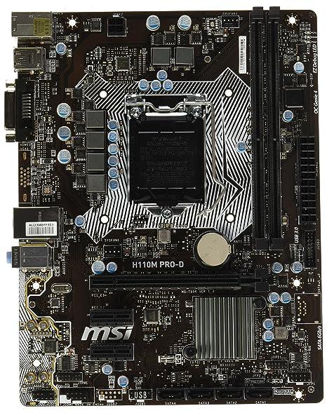 Amazon.com: Tarjeta madre Mini ITX (H110I Pro AC), marca MSI ...