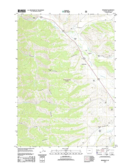 Bondurant Wyoming Map.Amazon Com Topographic Map Poster Bondurant Wy Tnm Geopdf 7 5x7
