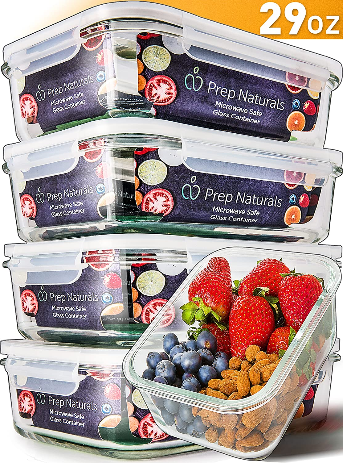 prep naturals, glass meal prep containers
