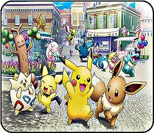 Pikachu Mouse Pad - Pokemon Pikachu Eevee Evolutions Cute Manga Anime Anti-Slip Non-Slip Mouse Pads Mat Mousepad for Kids Laptop 11.81 x 9.84 x 0.12Inch