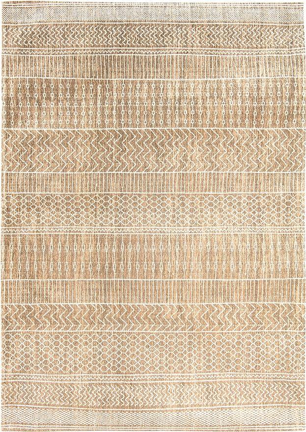Louis de Poortere Rugs - Alfombra de diseño de KHAYMA AGADIR 8674 SANDY GOLD Tribal envejecido envejecido y desgastado, estilo vintage, dorado, 230x330cm - (76x108): Amazon.es: Hogar