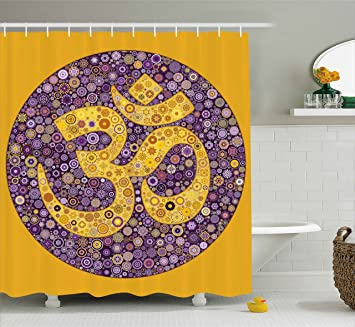 Ambesonne Hippie Shower Curtain Ethnic Flower Floral Design With Spring Inspired Leaves Buds Blossoms Details