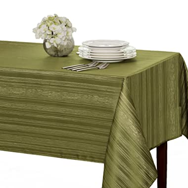 Benson Mills Flow  Spillproof  Fabric Tablecloth, 60X84 Inch, Sage
